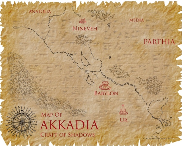 Map of Akkadia from The Jewel of Nineveh